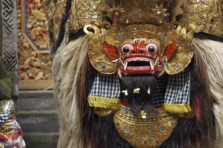 Bali Indonesia  December 20 2007: A Balinese performs as Barong at Barong ceremony in Bali. Editorial