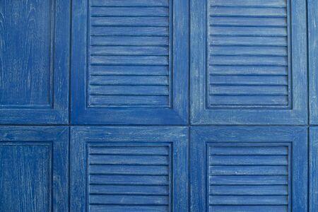 louver: Blue wooden louver background