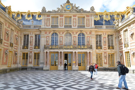 versailles: Tourists visit the famous Versailles Palace, France. Editorial