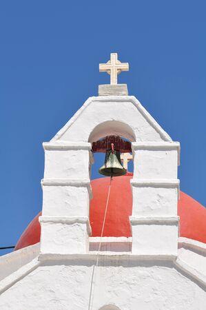 church bell: Close up of Church bell in Mykonos, Greece