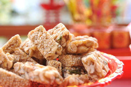 nutty: Sweet nutty snack in Chinese style wedding ceremony