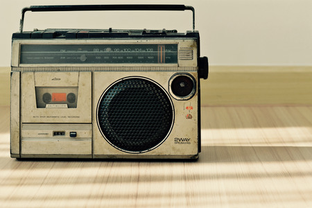 dusty: Dusty old radio with one cassette player