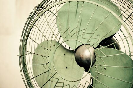 green life: Old vintage electric fan, Thailand