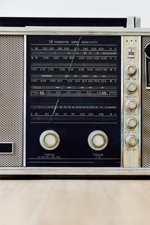 transistor: Vintage shortwave multi band transistor radio Stock Photo
