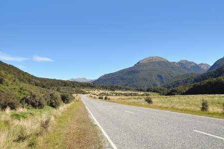 routes: Scenic routes in Southern Islands, New Zealand.