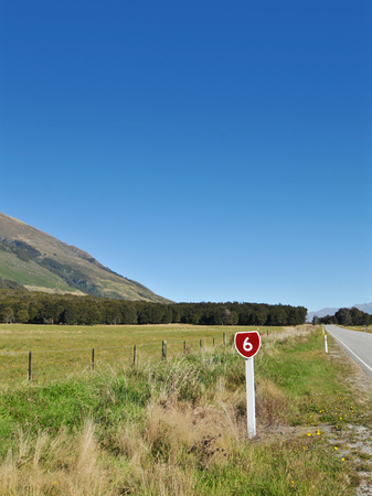 scenic highway: Scenic highway in Southern Islands, New Zealand.