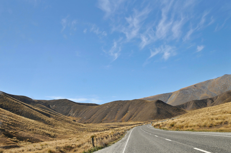 scenic highway: Scenic highway in Southern Islands, New Zealand