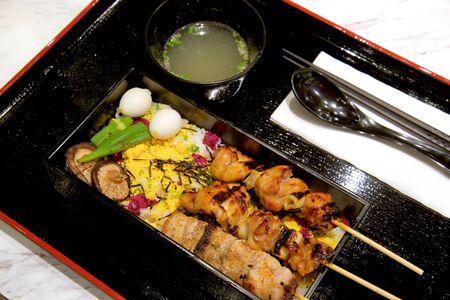 japanese quail: Teriyaki box set with soup