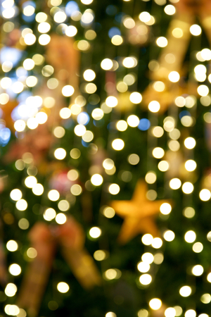 defocus: Christmas tree defocus background Stock Photo