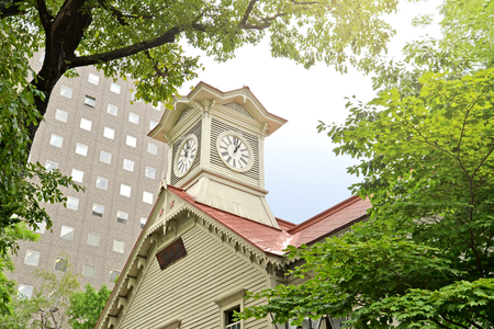 sapporo: Sapporo Clock Tower is one of the famous tourist attraction in Sapporo, Hokkaido, Japan Editorial