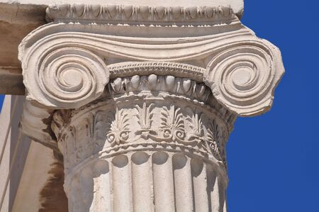 ionic: Ionic column at Acropolis, Athens, Greece - close up
