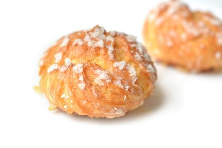 pasteleria francesa: Chouquette, Choux pasteler�a francesa - de cerca Foto de archivo