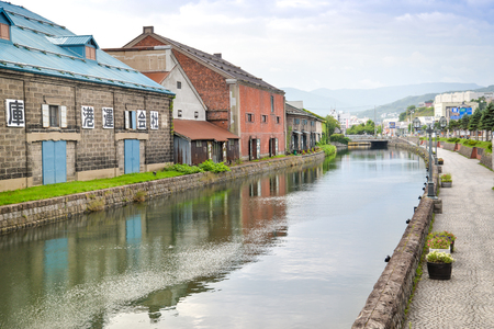quite: Otaru canal is quite empty in the morning. Tourists normally visit Otaru canal in the evening. Editorial