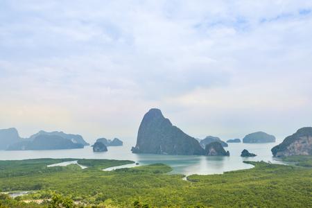 phang nga: Phang Nga Bay viewpoint, Phang Nga, Thailand (Samed Nang Chee, bay)