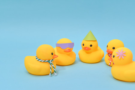 Diversity concept, Difference rubber ducks are meeting