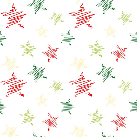 Sketch christmas star pattern Иллюстрация