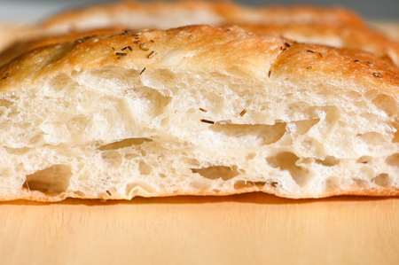 Focaccia bread - close up