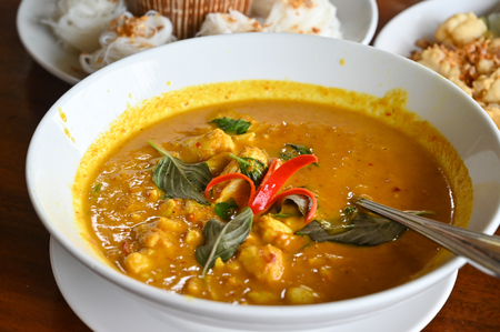 Crab coconut milk curry, southern style, Thailand