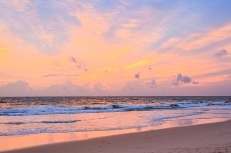 Sunset beach in the evening, Phuket, Thailand