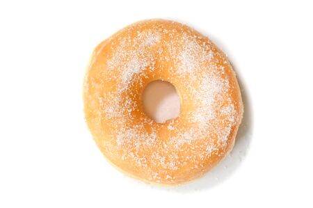 Glazed donut on white background - isolated Фото со стока