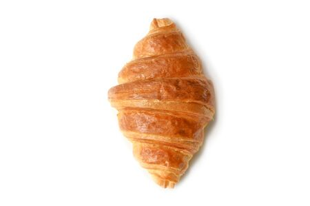Croissant su sfondo bianco - isolato