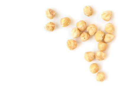 Hazelnut on white background - isolated