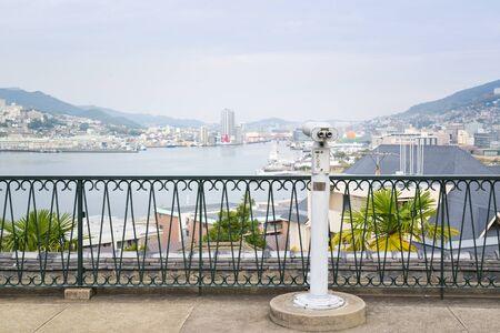 Nagasaki port view from Glover garden, Nagasaki, Japan