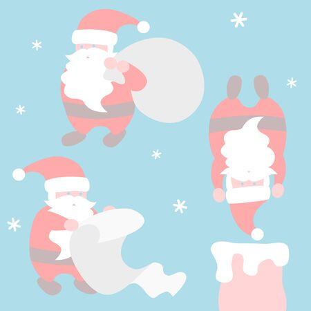 Santa Claus activities - Christmas set 写真素材 - 131637740