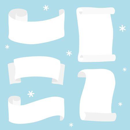 Paper scroll - Christmas set  イラスト・ベクター素材