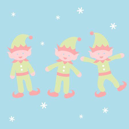 Dancing elf - Christmas set 写真素材 - 131637746