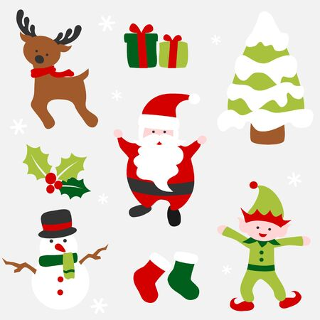 Christmas icon set - colorful
