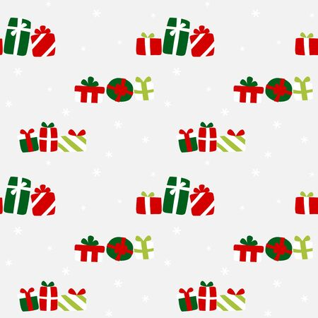 Gifts scatter wrapping paper - seamless pattern 写真素材 - 131637761