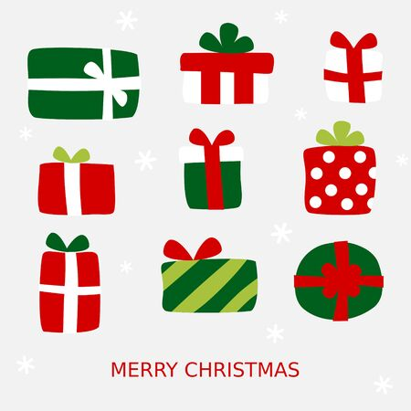 Many gifts card - Christmas set