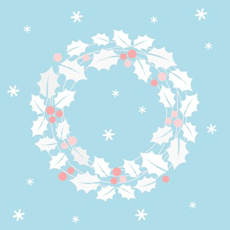 Christmas wreath card - Christmas set  イラスト・ベクター素材