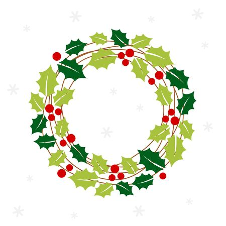 Christmas wreath card - Christmas set  イラスト・ベクター素材