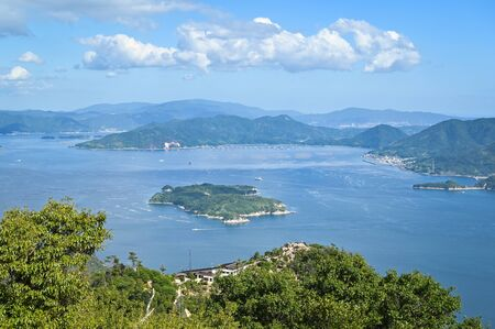 Beautiful scenery from Mount Misen Observatory, Miyajima, Hiroshima, Japan