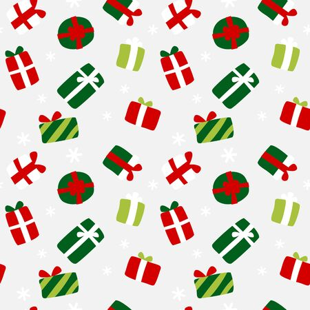Gifts scatter wrapping paper - seamless pattern