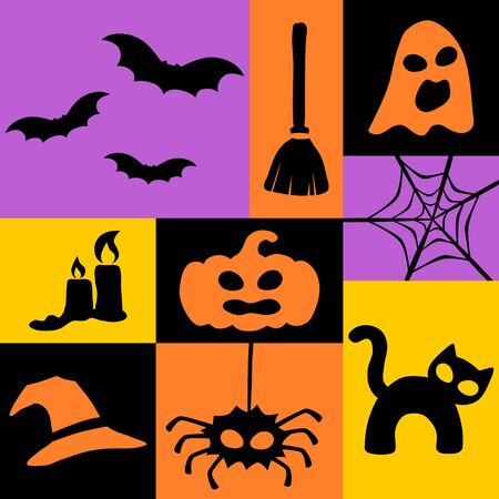Halloween hollow eyes icon collection