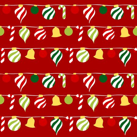 Christmas ornament seamless pattern - colorful