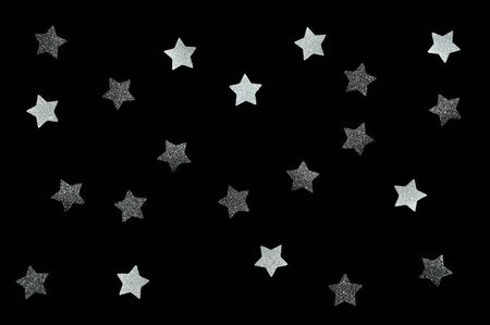 Black glitter star paper cut for black Friday background 写真素材