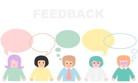 Customer feedback concept - pastel color  イラスト・ベクター素材