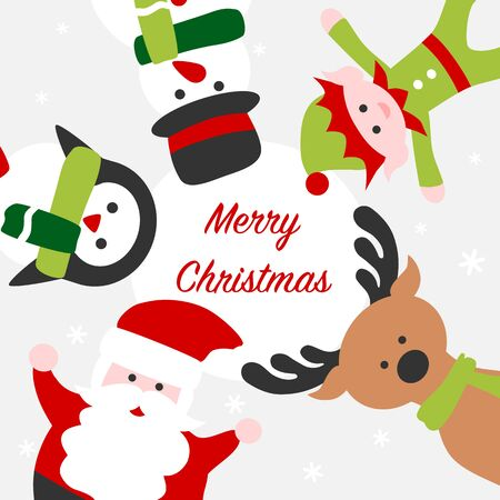 Santa and friends - Christmas card 写真素材 - 132929697