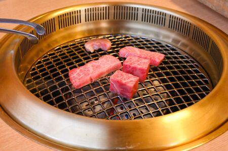 Grilled Wagyu beef, Japanese style 写真素材 - 134716379