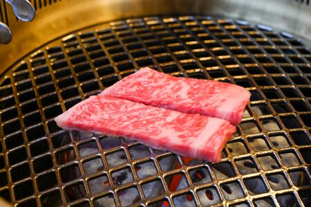 Grilled Wagyu beef, Japanese style 写真素材 - 134716381