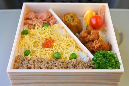 Lunch box, Japanese style, take away food that you can easily find at train station