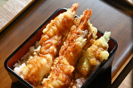 Tempura with rice, Japanese food