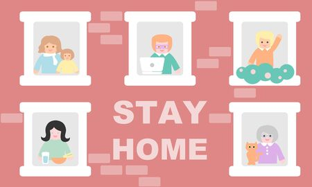 People stay at home - social distancing