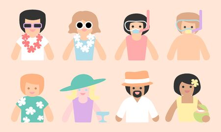 People avatars - summer holiday set