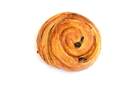 Danish pastry on white background - isolated
