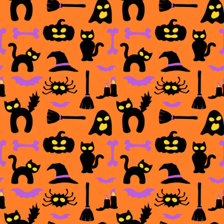 Halloween hollow eye wrapping paper - seamless pattern